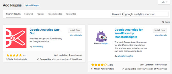 Add Google Analytics - Monster Insights plugin