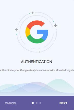 Authenticate google analytics