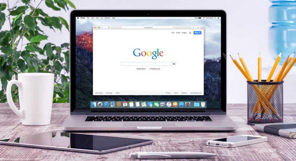 Google on macbook